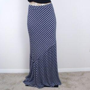 Loveapella Striped Maxi Skirt